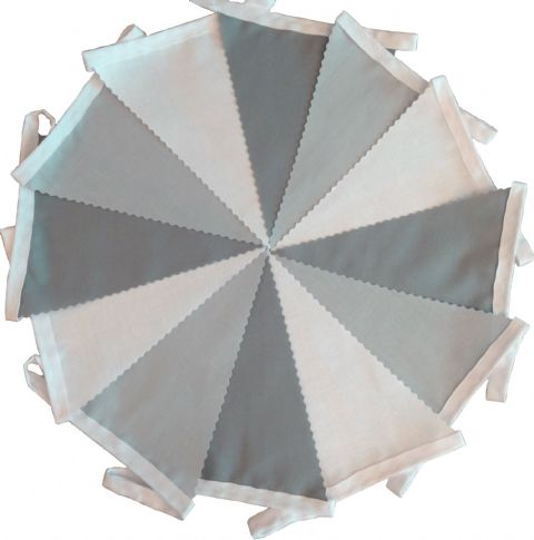 BUNTING Plain White, Light Grey and Dark Grey - 3m, 5m or 10m